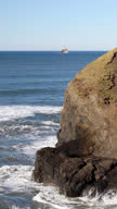 HD Oregon coast with TIllamook lighthouse - vertical video video