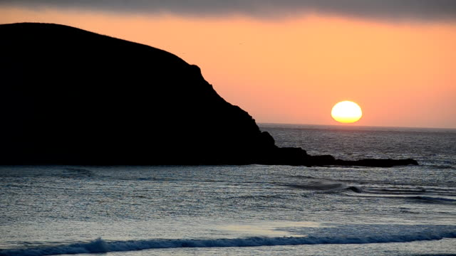 Oregon sea stack at sunset video