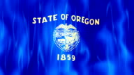Oregon State Flag Animation video