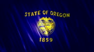 Oregon State Loopable Flag video
