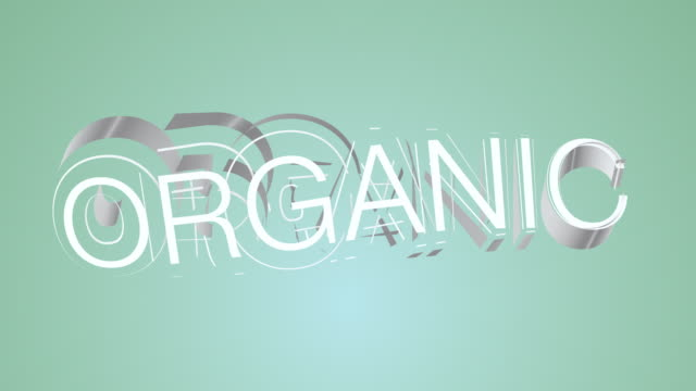 Organic Green Colourful Text video