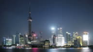 Oriental Pearl Tower, shanghai at night, china video