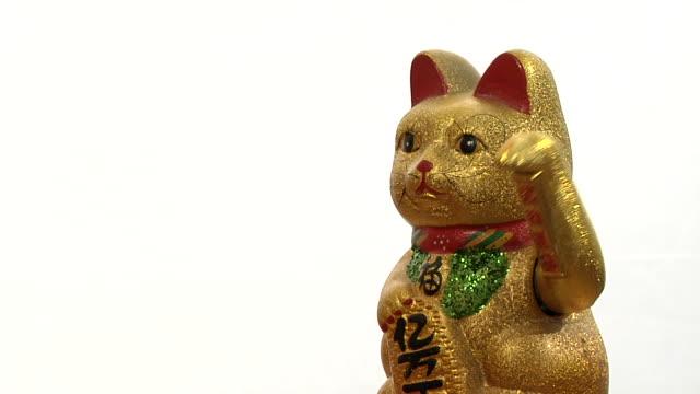 Oriental waving cat video