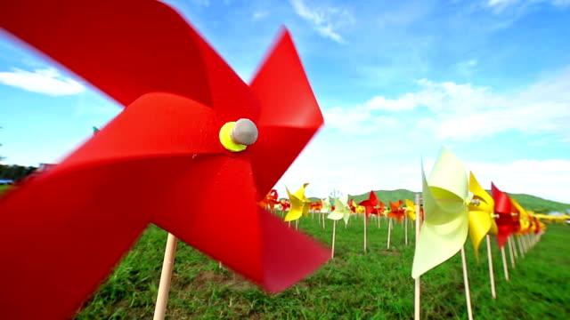Origami Wind Turbine farm video
