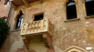 Original Balcony of Romeo and Juliet at Juliets home in Verona - Casa di Giulietta video