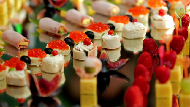 Original Snacks at Wedding Banquet for Guests video