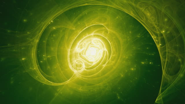 Origins of life - green animated fractal background. video