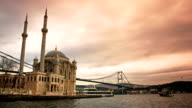 Ortakoy Mosque and Bosphorus Istanbul video