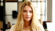 ortrait Of Beautiful Blond Girl video