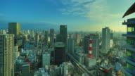 Osaka skyline video