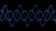 Oscilloscope Analog Blue Sine Wave video