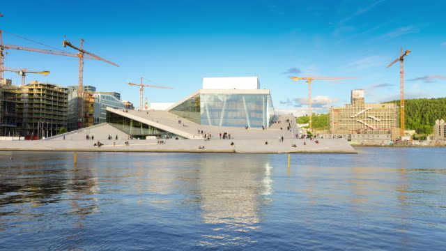 Oslo, view of the Norwegian national opera and ballet building video