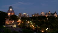 Ottawa Skyline with National Gallery of Canada and Chateau Laurier at Night video