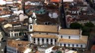 Igreja Nossa Senhora Do Carmo  - Aerial View - Minas Gerais, São João del Rei, Brazil video