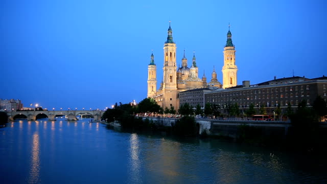 HD: Our Lady of the Pillar Basilica Zaragoza, Spain video
