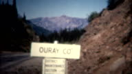 (8mm Vintage) 1966 Ouray Colorado Sign Aerial Town video
