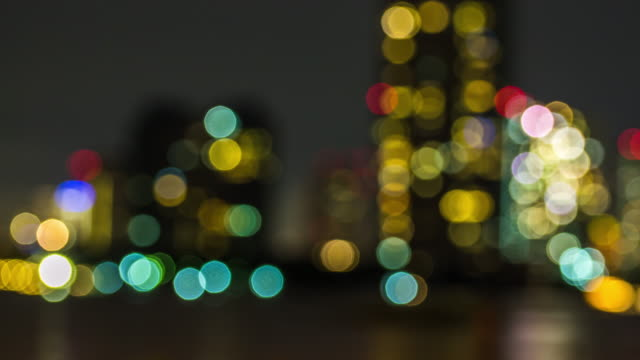 Out of focus Building Bokeh Time Lapse video