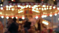 Out of focus carousel video