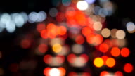 Out of Focus Time Lapse of Traffic - Bokeh Background video