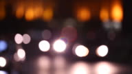 Out of focus traffic lights in FullHD. video