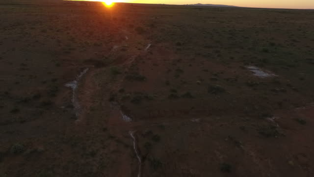 Outback aerial of sunrise video