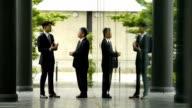 Outdoor business meeting video