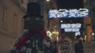 Outdoor Christmas decorations in the city video
