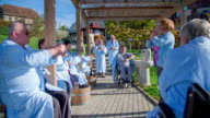 Outdoor exercise for elderly citizens video