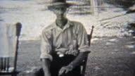 1937: Outdoor family reunion picnic gathering of local heros. video