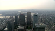 Over Canary Wharf  - Aerial View - England, Greater London, Tower Hamlets, United Kingdom video