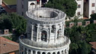 Over the Top Of the Leaning Tower Of Pisa  - Aerial View - Tuscany, Pisa, Italy video