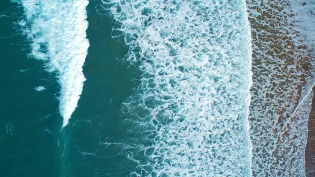 Overhead Aerial Drone Footage of Serene Ocean Waves video