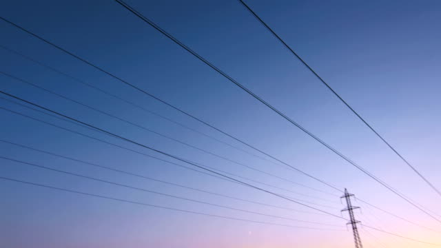 Overhead Cables And Electricity Pylons video