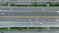 Overhead shot of a freeway video