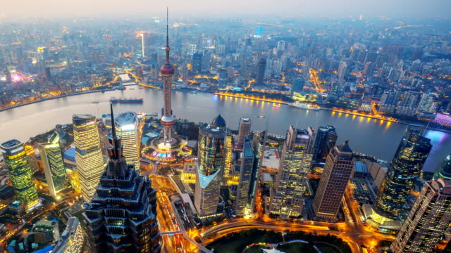 Overlooking Shanghai China, Time Lapse. video