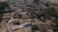 Overlooking slum area in Mumbai. video