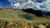 Overlooking Top of Ice Lake Basin Time-lapse Monsoon Clouds building near 13,000 Feet Silverton, Colorado video