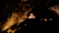 overview of a  a big cave, showing the greatness of nature- Cueva de los Verdes (Lanzarote) video