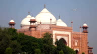 Overview of a side building of the Taj Mahal, previously used as a royal guesthouse, Agra, Uttar Pradesh, India video