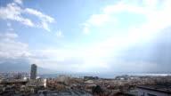 Overview of city, Mt Vesuvius and Mediterranean, Naples video