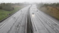 Overview of Toll Road in the Rain - Transportation Backgrounds video