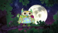 Owls in Love. Valentine's Day animation. video