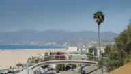 Pacific Coast Highway Alongside Santa Monica State Beach video