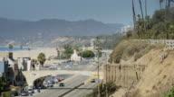 Pacific Coast Highway in Santa Monica, California video