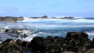 Pacific Coast Landscape, Easter Island, Chile video