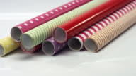 Package of wrapping paper rolls video