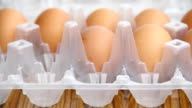 Packing eggs. video