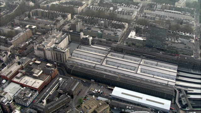 Paddington Station  - Aerial View - England, Greater London, City of Westminster, United Kingdom video