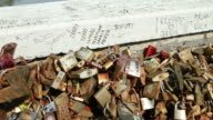Padlocks as Symbol of Love at Ponte Milvio video