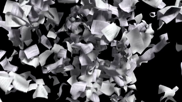 Pages falling white paper book literature business school video